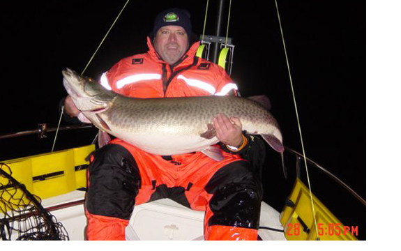 Dale MacNaire with monster muskie.